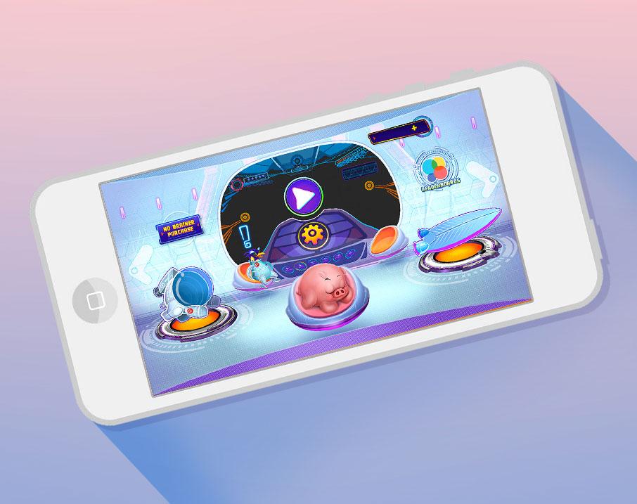 E-pig Galaxy Interfaz de Usuario