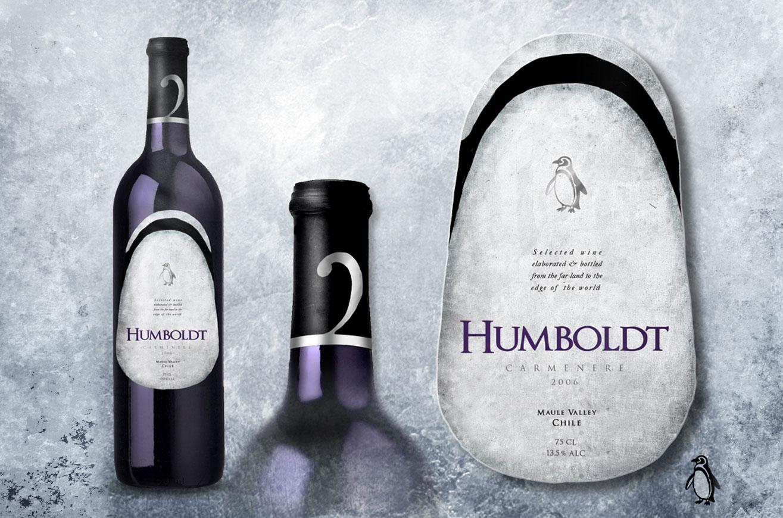 Humboldt Etiqueta de Vino